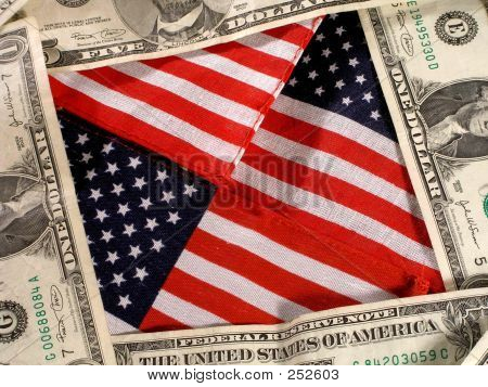 America And Money Background