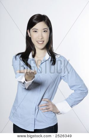 Asian Woman Hand Out
