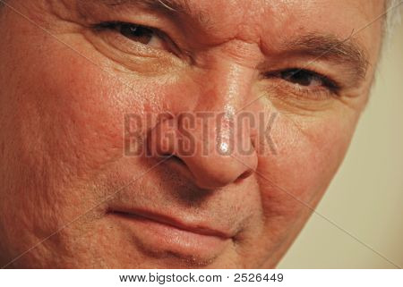 Close-Up Of Senior Man Staring