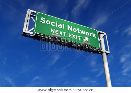 Social Network - Freeway Sign