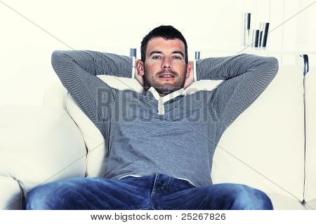 Relaxed Man On His Sofa