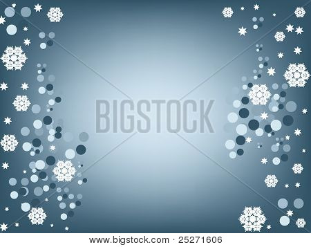Beautiful Snowflakes Background