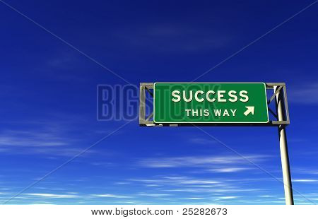 Success - Freeway Exit Sign