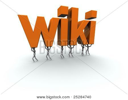 People Carrying wiki Text 3D