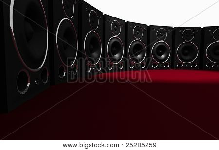 Massive Audio Speaker Wall