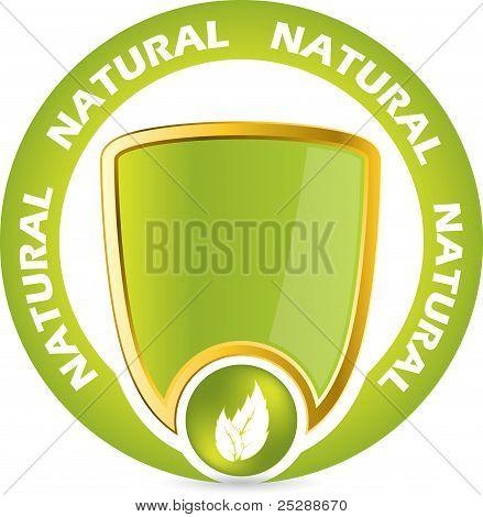 Crachá de garantia de produto bio