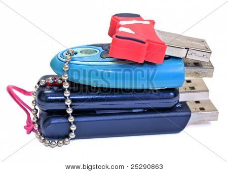 Small pile of USB Flash Drives