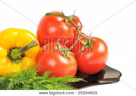 Vegetables - Tomatoes, peppers