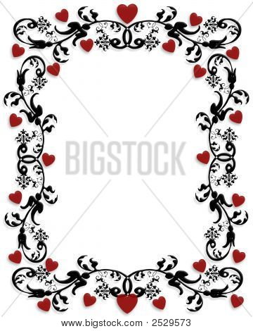 Valentine Ornamental Frame Or Border