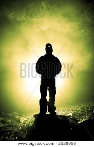 Caveman Silhouette Green