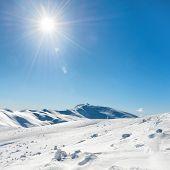 White Winter Mountains poster