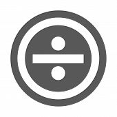 Divide Icon.  Simple Illustration Of Divide Icon Isolated On White Background poster
