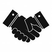Hand Peace Icon. Simple Illustration Of Hand Peace  Icon For Web poster