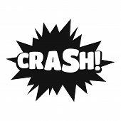Comic Boom Crash Icon. Simple Illustration Of Comic Boom Crash  Icon For Web poster