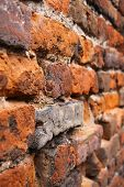 image of castello brown  - Close up vintage brickwall background in Verona