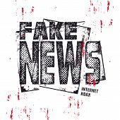 Fake News Text. Hybrid Warfare, Alternative Facts, Fake News And Media Manipulation, Propaganda. Vec poster