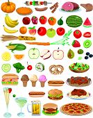 image of hot dog  - Vector Food Items - JPG