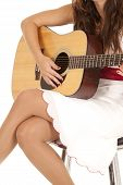 White Dress Close Guitar