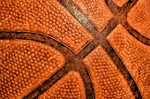 Old Basketball, Close-up, A Symbol Of Basketball poster