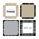 Collection Frames Of Linen.set Of Geometric Vector Frameworks From Lines poster