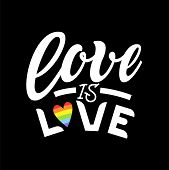 Gay Lettering. Conceptual Poster With Lgbt Rainbow Hand Lettering For Print Materials And Design Ele poster