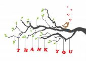 stock photo of thank you card  -