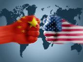 Us - China Trade War, Boxing Flag Fists poster
