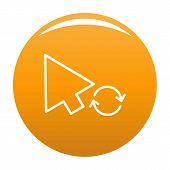 Arrow Cursor Loading Icon. Simple Illustration Of Arrow Cursor Loading Icon For Any Design Orange poster