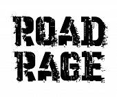 Road Rage Typographic Stamp, Sign, Label. Black Distressed Series poster