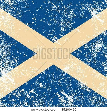 Scotland retro flag