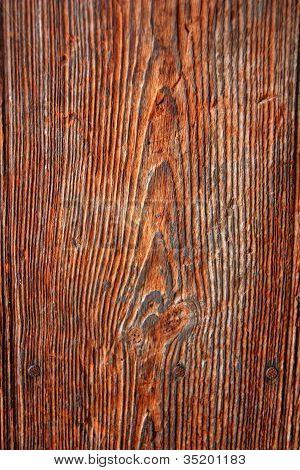 Old Orange Wood Texture Macro