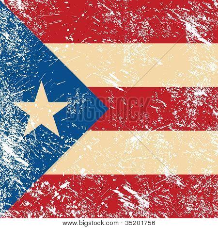 Puerto Rico retro flag