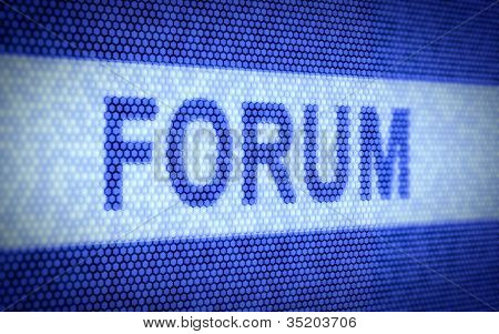 Forum screen