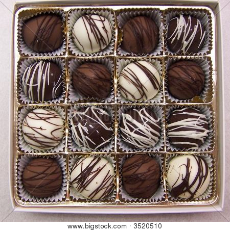 Square Box Of Truffles