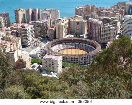 Bullfight Ring In Malaga