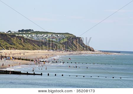 Beach On A Sunny Day