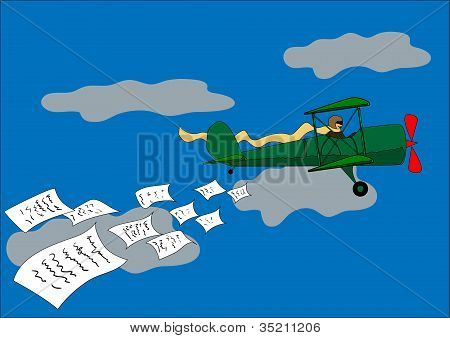 aircraft dropped leaflets