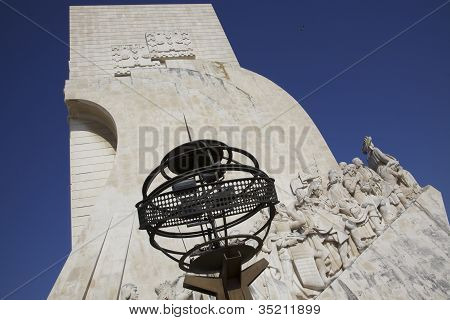 Monument to the Discoveries In Lisbon Portugal