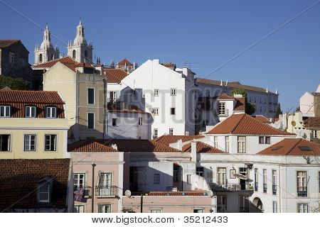 Stock Photography Of Rooftop View Overlooking Lisbon