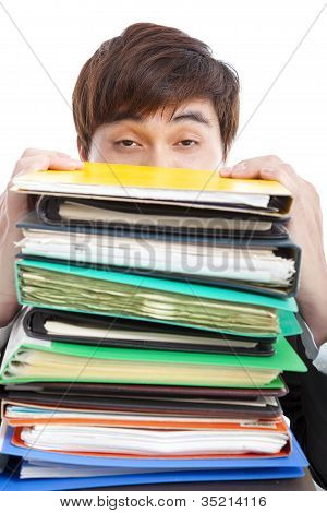 depression Businessman with paperwork