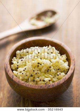 Ensalada de repollo picante indio