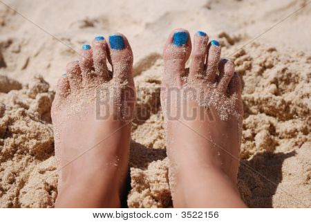 Feet And Sand
