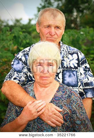 Sad Senior Couple