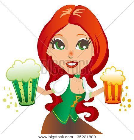 Saint Patrick Waitress