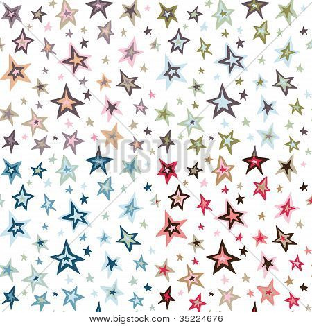 Seamless retro fifties stars design pattern