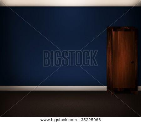 Blaues Zimmer innen Hintergrund