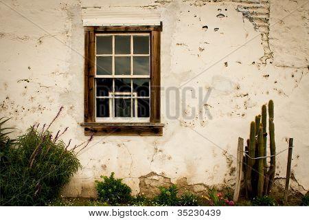 Sash Window in Plaster Wall