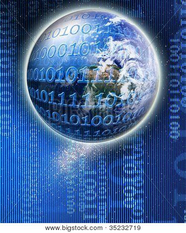 Visuelle Darstellung einer digitalen Welt