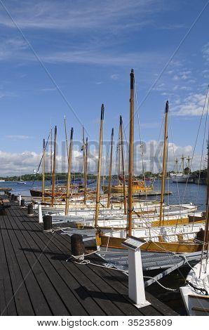 Traditional Sloops In Karlskrona Marina