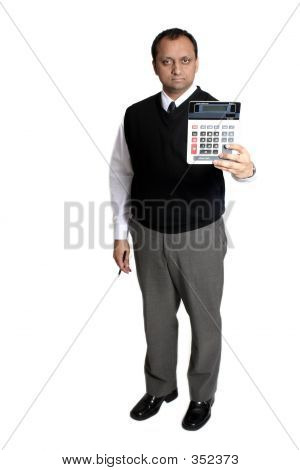 Accountant Holding Calculator